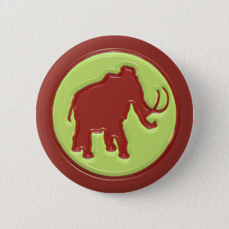Woolly Mammoth 2 Inch Round Button