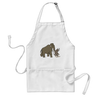 Woolly Mammoth And Bigfoot Aprons