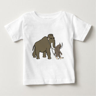 Woolly Mammoth And Bigfoot Baby T-Shirt
