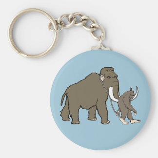 Woolly Mammoth And Bigfoot Keychain
