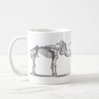 Woolly Mammoth and Skeleton Vintage Evolution Coffee Mug