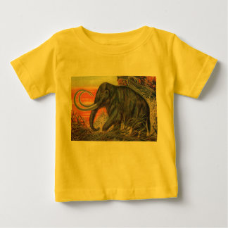 Woolly Mammoth Antique Print Baby T-Shirt