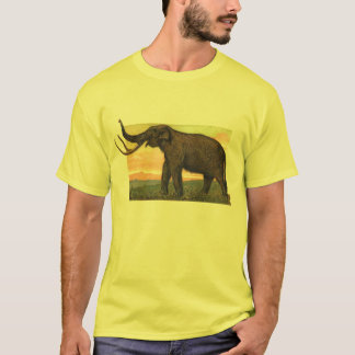 Woolly Mammoth Antique Print T-Shirt