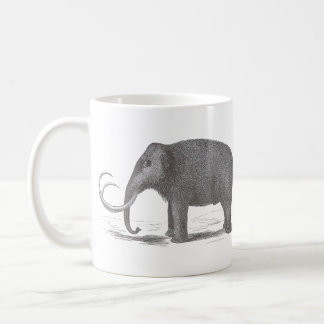 Woolly Mammoth Extinct Mastodon Antique Print Coffee Mug