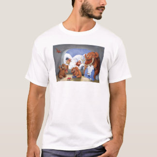 Woolly Mammoth Family in Ice Age T-Shirt