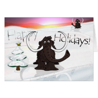 Woolly Mammoth Holiday Card