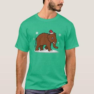 Woolly Mammoth in Santa Hat T-Shirt