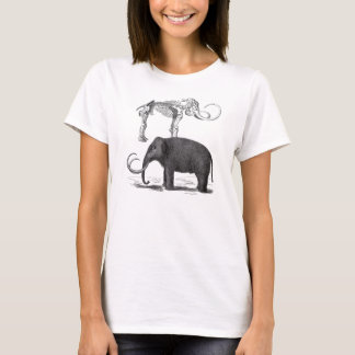 Woolly Mammoth Prehistoric Elephant and Skeleton T-Shirt