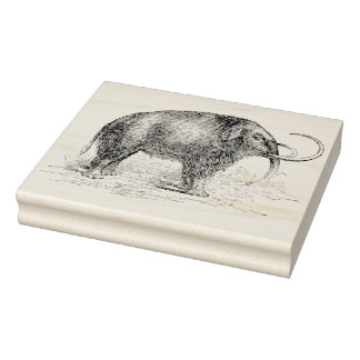 Woolly Mammoth Vintage Rubber Art Stamp