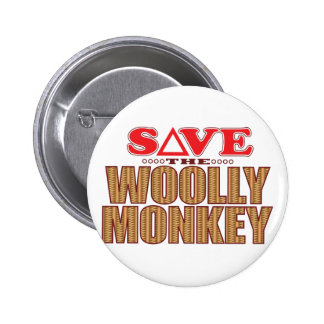 Woolly Monkey Save 2 Inch Round Button