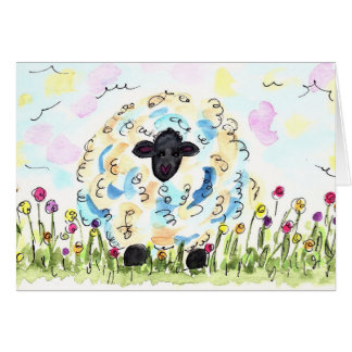 Woolly Sheep Card