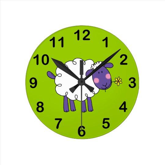 Woolly sheep wall clocks