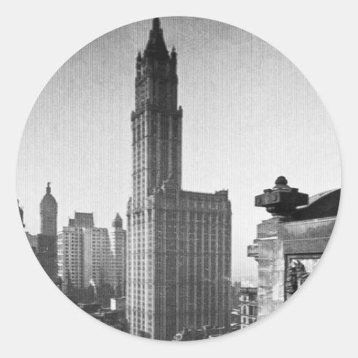 Woolworth Building Lower Manhattan New York City Round Stickers