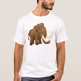 Wooly Mammoth Cartoon T-Shirt