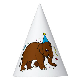 Wooly Mammoth in a Party Hat