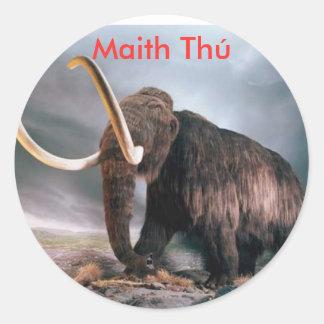 Wooly Mammoth Maith Thú Reward Sticker