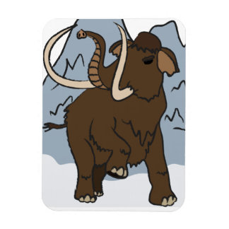 Wooly Mammoth premium magnet