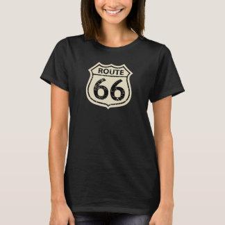 Woomen's ROUTE 66 BEIGE SIGN T-Shirt
