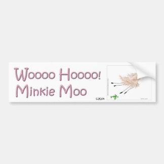 Wooo Hooo Minkie Moo Bumper Sticker