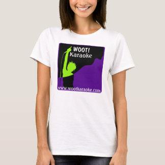 Wootkaraoke logo, WOOT!, Karaoke, www.wootkarao... T-Shirt