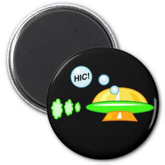 Woozy UFO 2 Inch Round Magnet