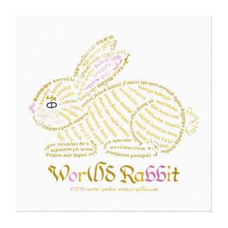 Wor(l)d Rabbit Canvas Print