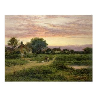 Worcestershire Cottages, 1912 Postcard