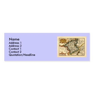 Worcestershire County Map, England Business Card Template