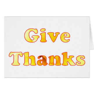 Word Art Give Thanks Happy Thanksgiving Cards