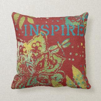 Word Art - Inspire Throw Pillow