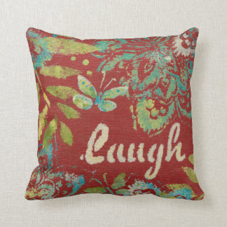 Word Art - Laugh Throw Pillow