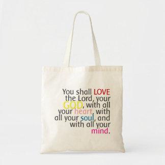 Word Art - Love God with heart mind soul - Bag