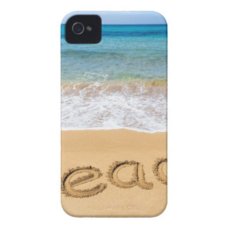 Word Beach written in sand at greek sea Case-Mate iPhone 4 Case
