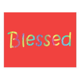 Word Blessed in Colourful Colours - Pick Postcard