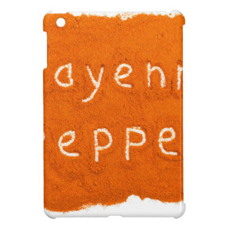 Word Cayenne pepper written in powder iPad Mini Covers