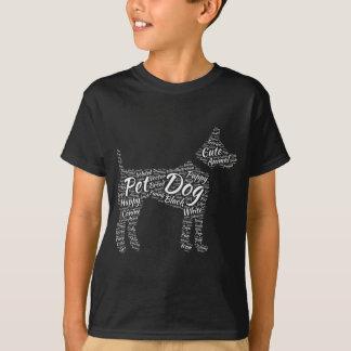 Word Cloud Dog T Shirt Design