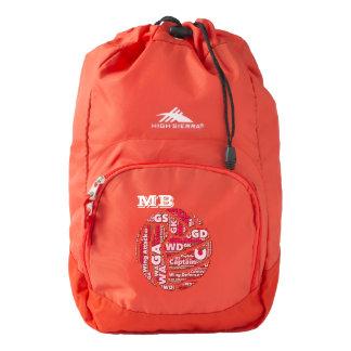Word Cloud Netball Team Personalised Backpack
