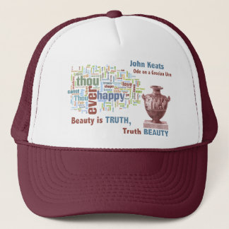 Word Cloud of John Keats' Ode on a Grecian Urn Trucker Hat