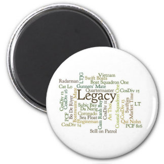 Word Cloud Round Magnet