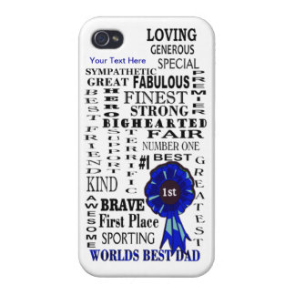 Word Collage Fathers Day Case Savvy iPhone 4 Case