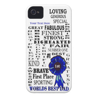 Word Collage Fathers Day iPhone 4/4S Barely There Case-Mate iPhone 4 Cases