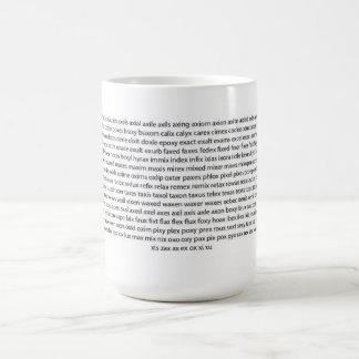 Word Game Mug -  X Words List