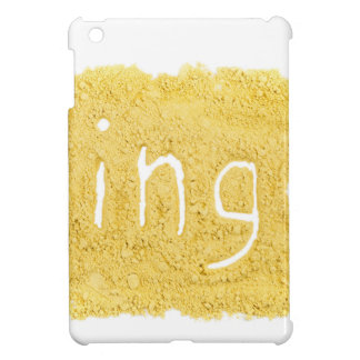 Word Ginger written in spice powder iPad Mini Covers