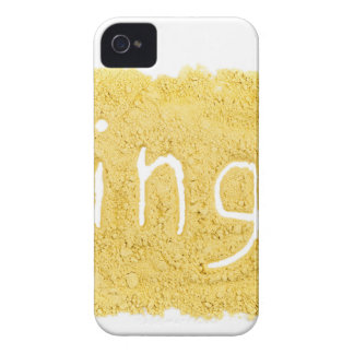 Word Ginger written in spice powder iPhone 4 Covers