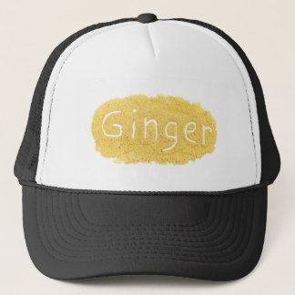 Word Ginger written in spice powder Trucker Hat
