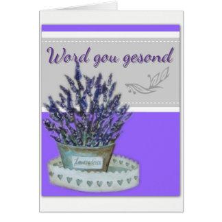 Word gou gesond card