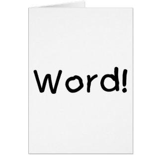 Word! Greeting Card