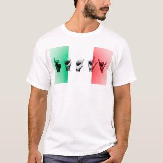 Word Italy over the italian flag T-Shirt