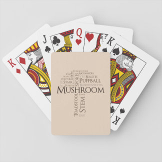 Word Mushroom Classic Playing Cards (Brown Text)