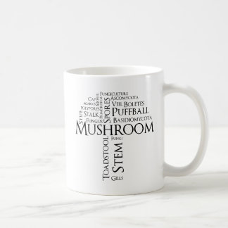Word Mushroom Mug (Black Text)